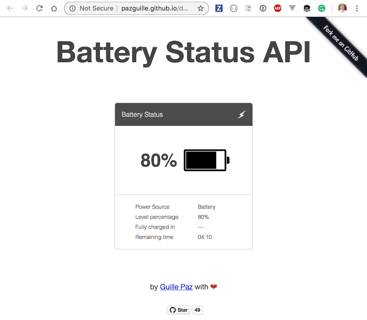 Stub navigator API in end-to-end tests | Better world by