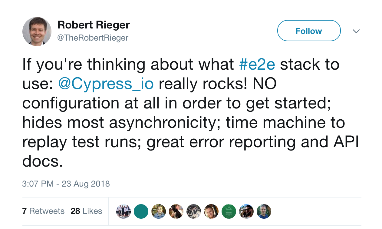 Cypress and its docs
