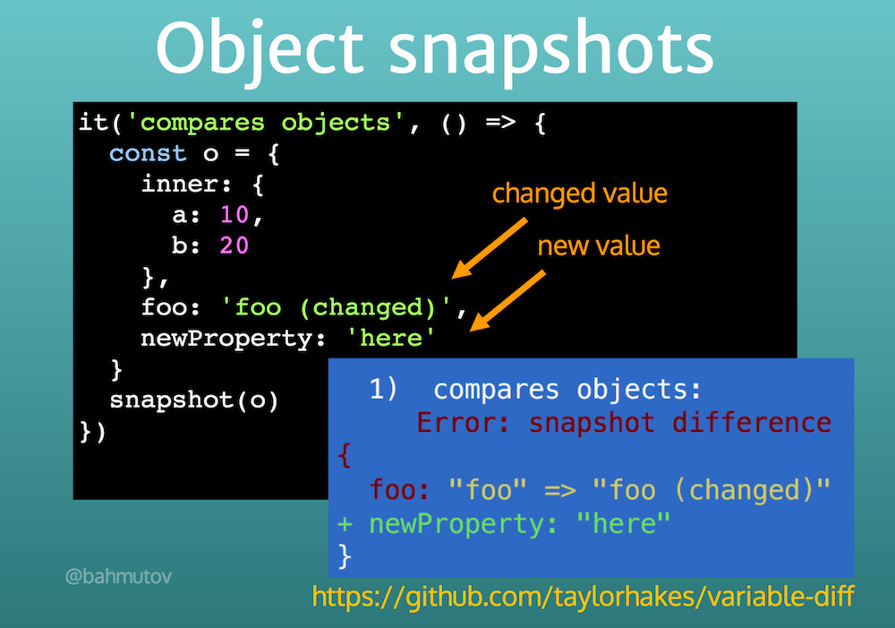 Object difference reported using 'variable-diff'