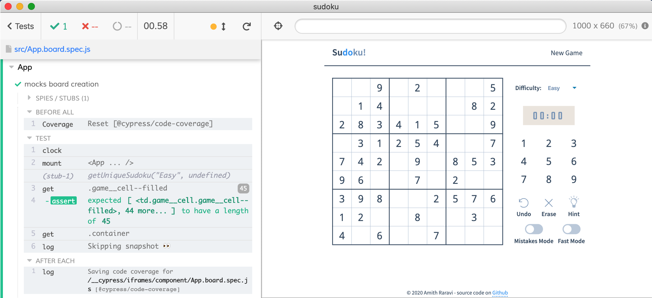 Mocked board creation produces the same Sudoku game