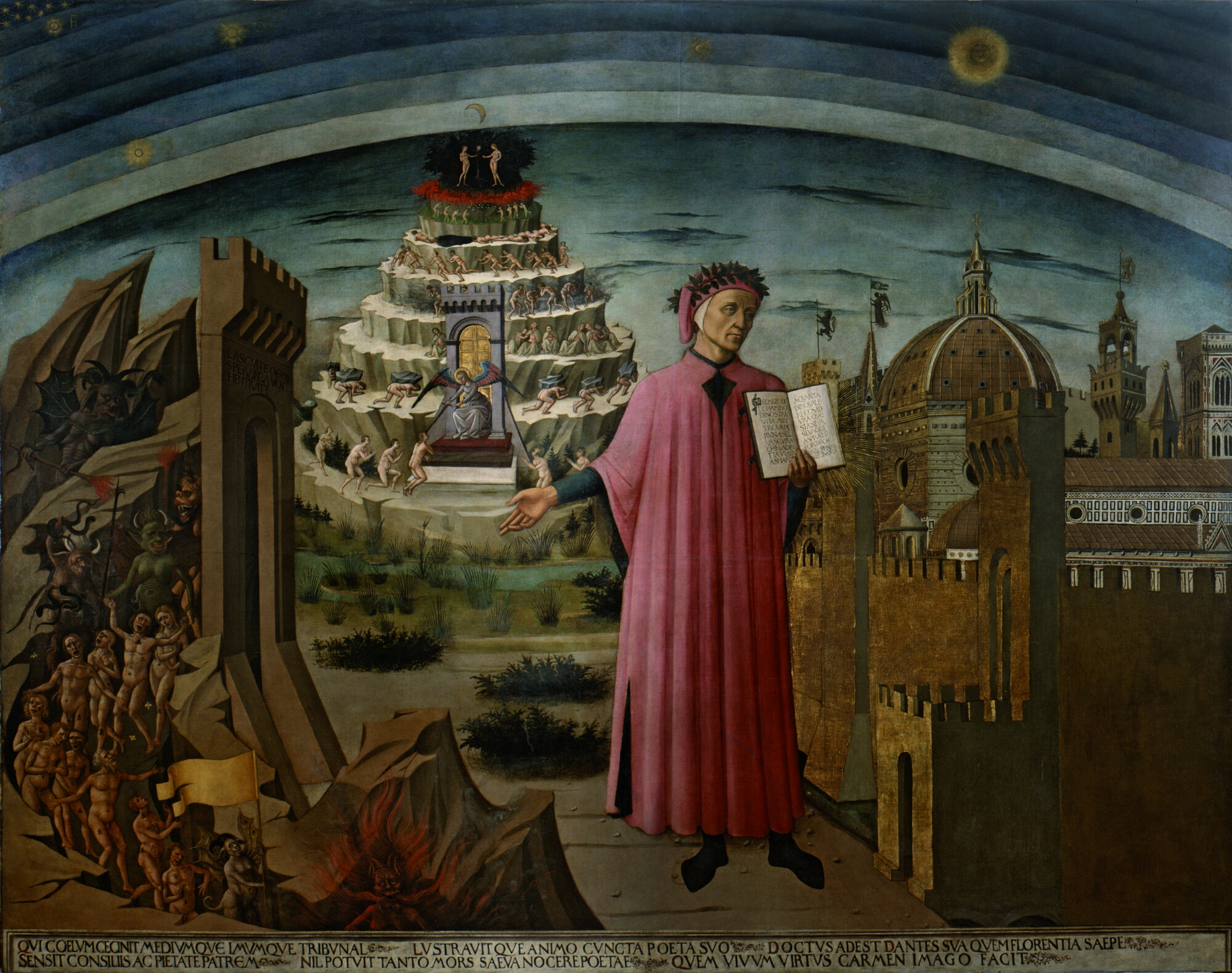Dante pointing at JavaScript developers