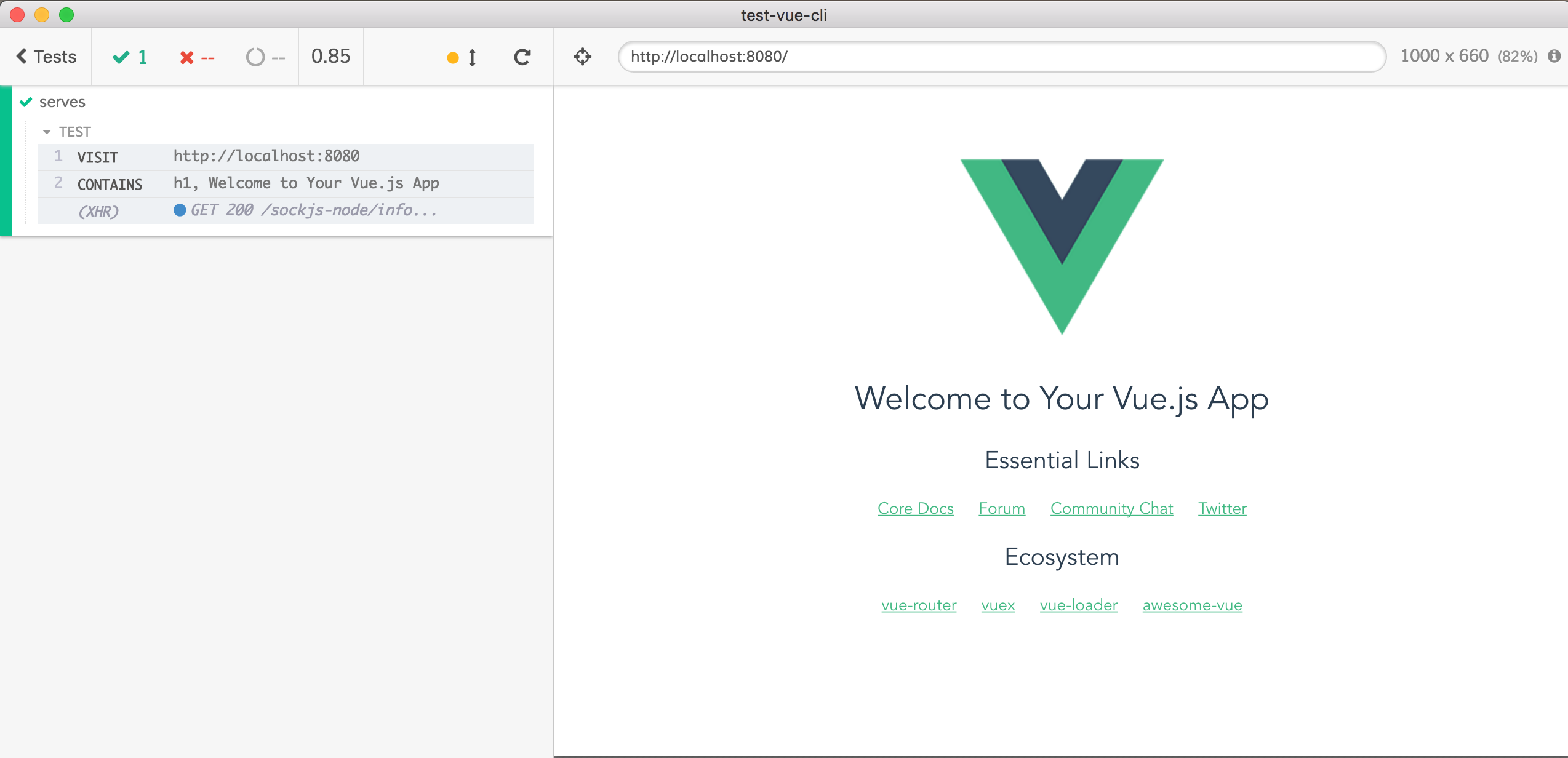 Testing Vue CLI reload | Better world by better software