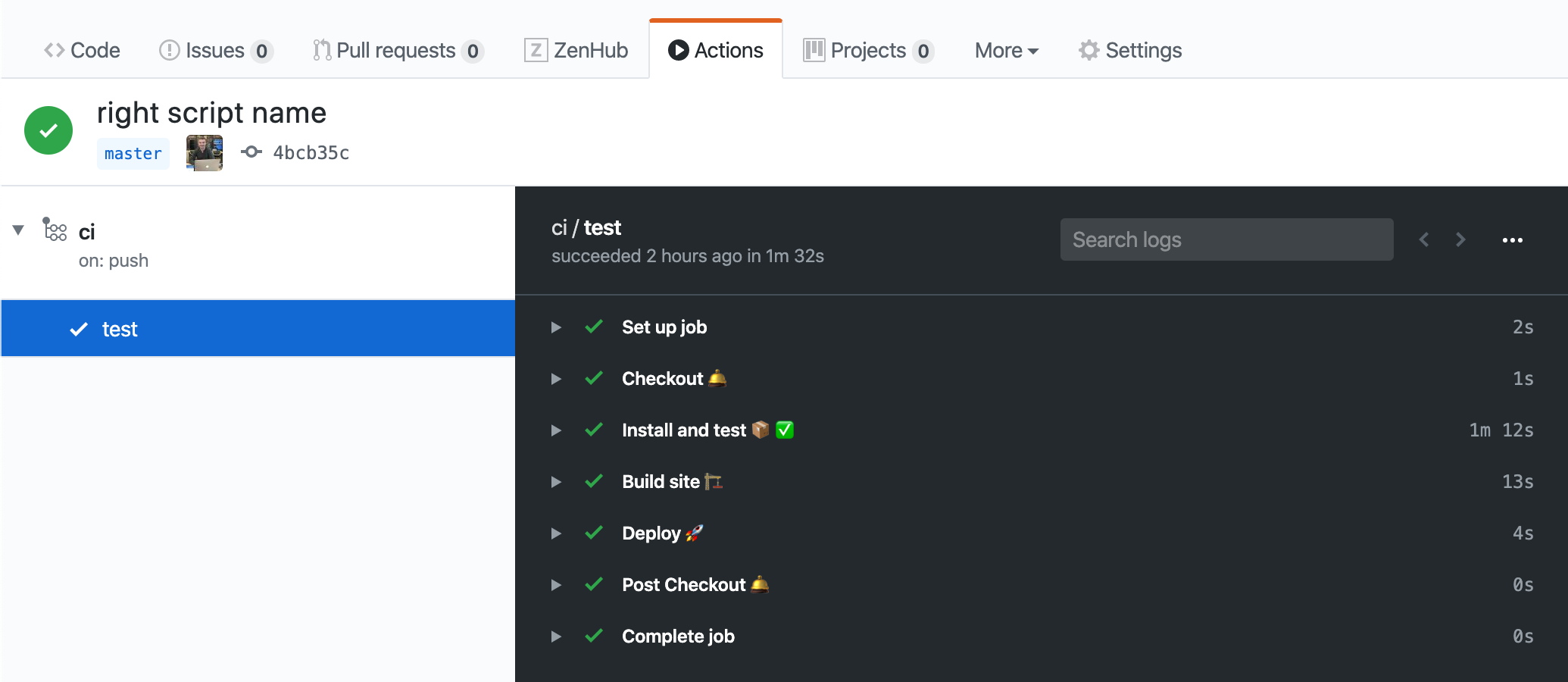 Cypress tests successfully ran on GitHub
